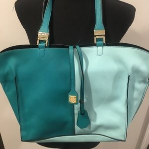Multi-Colored Leather Tote - Just Like New